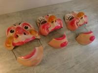 Lot de masques ancien carnaval farces et attrapes ancien déguisement