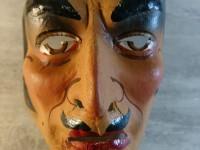 Masque de Carnaval Ancien Carton Bouilli Déguisement Papier Mâché