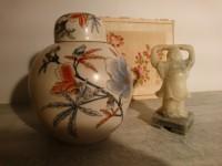 Pot à gingembre, ou vase boule, bouddha en pierre dure - lot chine asie