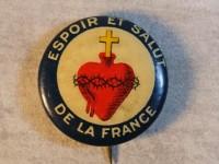 Broche - Espoir et salut de la France - Sacré coeur.