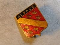 broche Ancien Insigne Blason région ALSACE email.