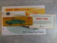 DINKY TOYS ATLAS - DODGE ROYAL SEDAN ref 191 neuf sous blister