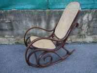 Chaise à bascule - rocking chair style thonet