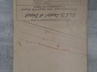 Plan Alès poste 1 - ligne saint germain des fossés à Nimes
