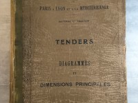 SNCF - TENDERS diagrammes et dimensions principales - 1925