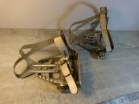 Pédales pedalier course velo ancien aluminum christophe ancien maillard