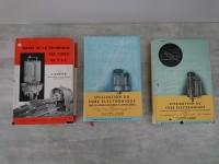LOT livres tubes électroniques TSF utilisation du tube électronique. série philips