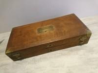 Boite d'instruments ancienne en bois de chirurgien