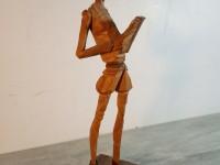 Petite figurine en bois ( olivier ?) Don Quichotte