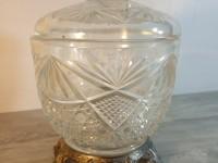 Charmante bonbonnière - sucrier verre moulé