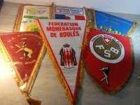 Fanions sport de boules FFSB FIB FMB fédération française Suisse Pétanque.