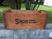 Caisse en bois SINGER