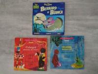 3 disques vinyles enfants - colargol - bernard et bianca