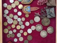 Lot de pièces et médailles - le terrible - ministère agriculture - 20 fr turin argent, zouves crucifix et chapelets