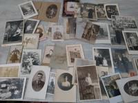Lot de photos argentiques anciennes noir et blanc portrait de famille