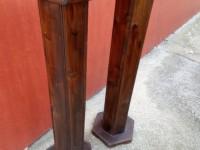Paire de sellettes en bois