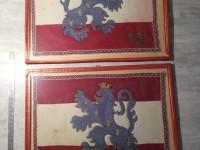 Fanion brodé 13 régiment  lion couronné - Militaria cadres