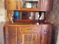 Meuble art déco bel état vaisselier miroir biseauté.