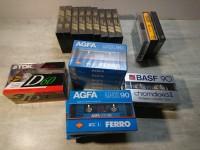Cassettes audio vierges neuves - emballées TDK AGFA BASF