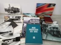 Lot chemins de fer SNCF photos livres. RATP