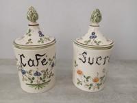 Pots Sucre café faience de Moustiers