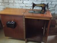 Machine à coudre ancienne Singer.