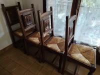 Lot de chaises paille