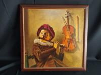 Tableau reproduction - Judith leyster, garçon jouant de la flûte.
