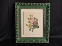 Tableau - encadrement bouquet de fleurs imprimé