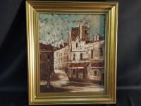 Hst - Gilbert Artaud - vue de Paris