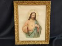 Jésus - lithographie encadrée sous verre e